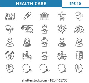 Healthcare Icons. Professional, pixel perfect icons. EPS 10 format.