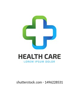 HealthCare Logo Design. suitable for your health care company or hospital. healthcare minimalist design logo. stylish vector logo
