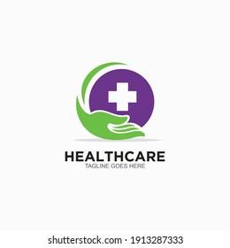 Healthcare logo design template. Hospital event volunteer icon design vector