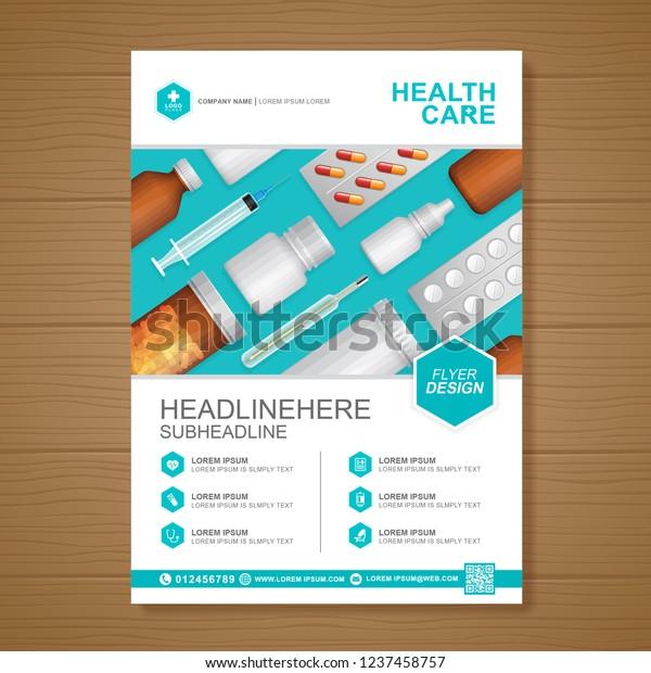 Healthcare Medical Cover A4 Template Design Stock Vector (Royalty