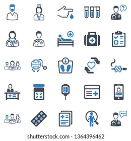 Healthcare & Medical Icon Set - 2 (Blue Series)