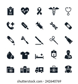 Healthcare and Medical icons Vector illustration