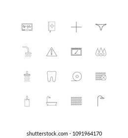 Healthcare And Medical linear thin icons set. Outlined simple vector icons