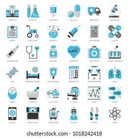 Healthcare and medical, pixel perfect flat icon, isolated on white background