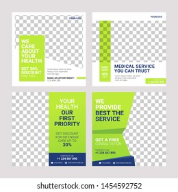 Healthcare post social media banner ad post template