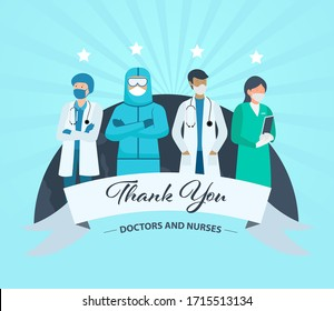 Healthcare Workers, Doctors, Nurses, Medical Staff, Thank you
