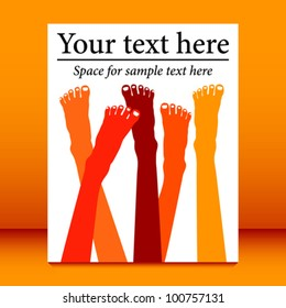 Healthy feet leaflet design vector.