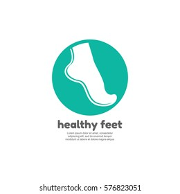 Healthy feet logo template
