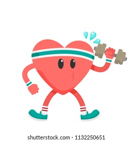 Healthy Fitness Heart Healthcare Concept Vector Image