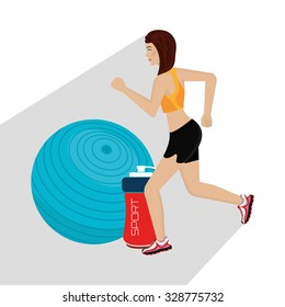 Healthy fitness lifestyle icons, vector illustration graphic.