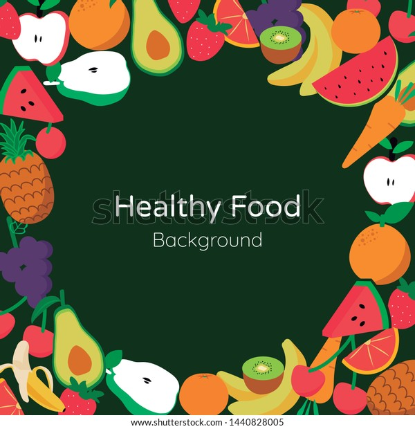 Healthy Food Background Style Vector Stock Vector Royalty Free 1440828005