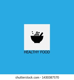healthy food icon sign signifier vector