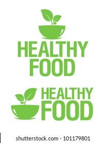 Healthy Food icons set.