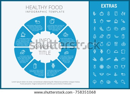 Healthy Food Infographic Template Elements Icons Stock Vector