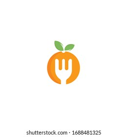 Healthy food logo design. Diet and weight loss concept.