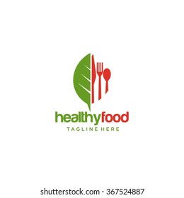 Healthy Food Logo Template
