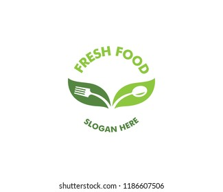 Healthy food logo vector template