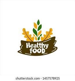 Healthy Food Logo Vector Template