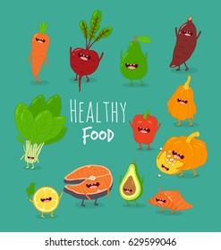 Healthy food of set