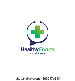 healthy forum logo icon vector isolated