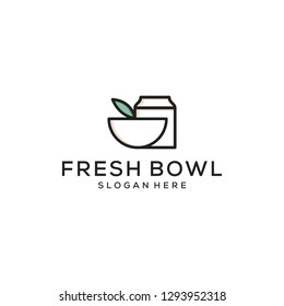 healthy fresh bowl logo