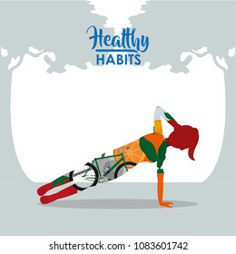 Healthy habits woman