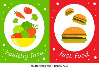 healthy and harmful food