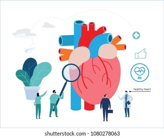 Healthy heart vector illustration