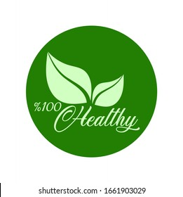 healthy icon on white background