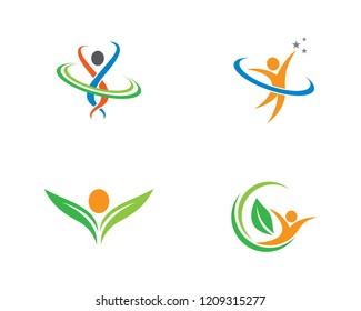 Healthy life logo illustration
