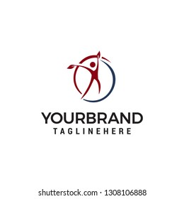 Healthy Life people logo design concept template