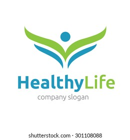 Healthy life vector logo template