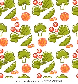 Healthy lifestyle and fitness food nutrition and drinks seamless pattern.