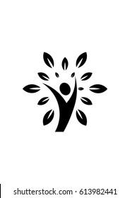 Healthy lifestyle logo icon, Vector