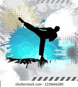 Healthy lifestyle. Martial arts. Vector