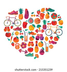 healthy lifestyle. Vector background