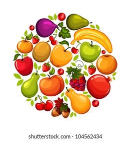 Healthy lifestyle-fruit circle