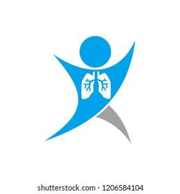 healthy lung logo image vector