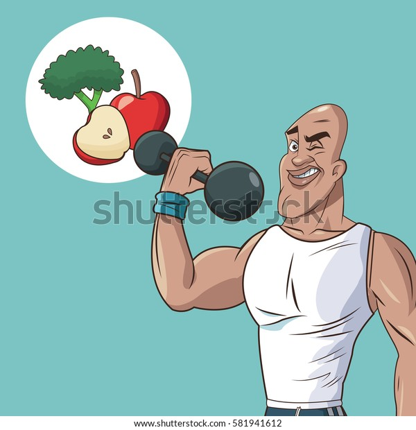healthy man athletic weight food diet