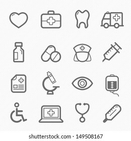 healthy and medical symbol line icon on white background vector illustration