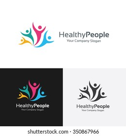 Healthy People Logo Template
