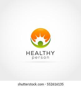 Healthy Person Sun Logo