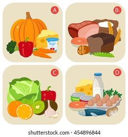 Vitamin b images stock photos vectors shutterstock healthy products containing vitamins vitamin group a b c d healty workwithnaturefo