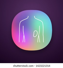 Healthy spleen app icon. Human organ in good health. Functioning lymphatic system. Wholesome immune system. UI/UX user interface. Web or mobile application. Vector isolated illustration
