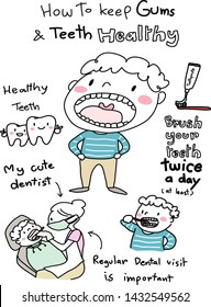 Healthy teeth and gums concept with cute little boy opening his mouth wide showing teeth, boy brushing teeth, smiling teeth, and child patient sitting and opening mouth for female dentist examination.