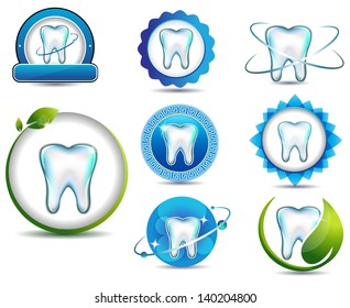 Healthy teeth symbol collection. Clean and bright designs. Beautiful color combinations.