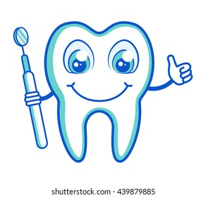 Healthy tooth. Cheerful
