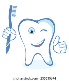 Healthy white shiny tooth