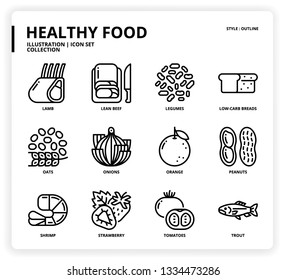 HealthyFood icon set