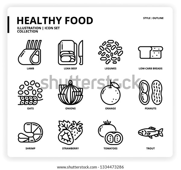 HealthyFood icon set